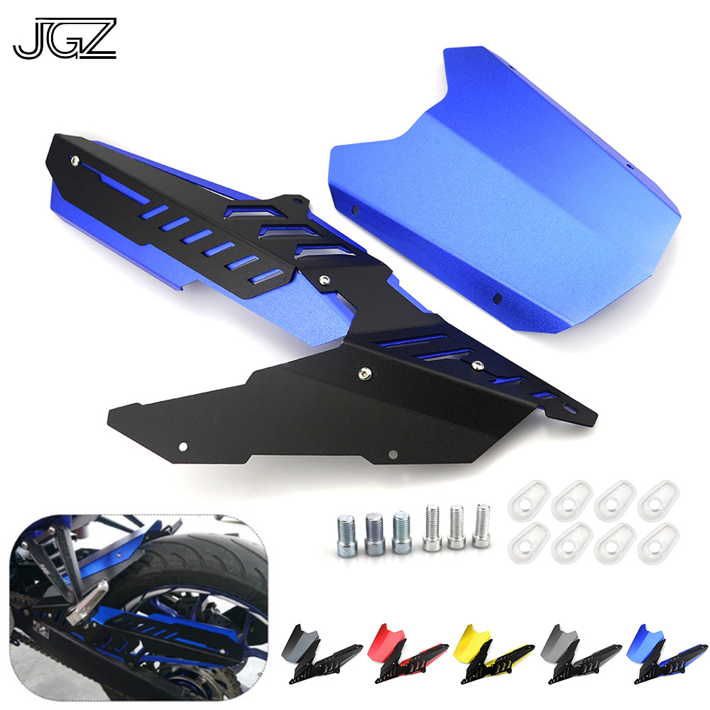 For Yamaha YZF R3 R25 MT03 2015 2016 2017 Motorcycle CNC Aluminum Rear Fender Mudguard Chain Cover Protector Guard Accessories black motorcycle accessories radiator guard protector grille grill cover for yamaha yzf r3 yzf r3 2014 2015 2016