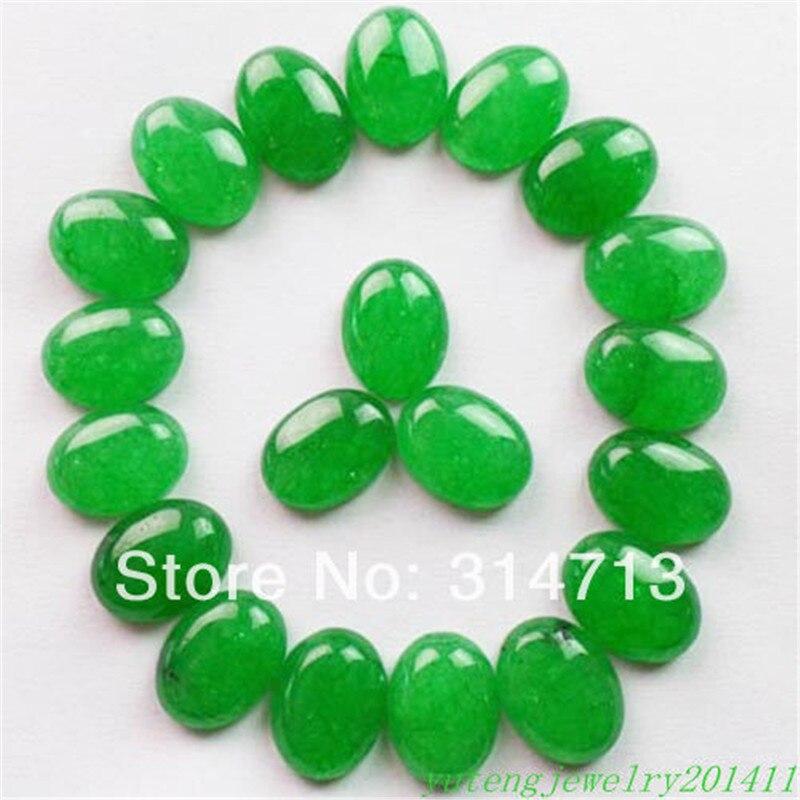 20Pcs Beautiful Green Stone Oval CAB CABOCHON 25x18x6mm D0078714
