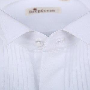 Image 3 - 새로운 패션 신랑 턱시도 셔츠 최고의 남자 Groomsmen 화이트 블랙 또는 레드 남자 웨딩 셔츠 공식 행사 남자 셔츠