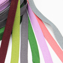 12mm wide 100% cotton ribbon colorful webbing herring bonebinding lace trimming for packing decorative DIY handmade