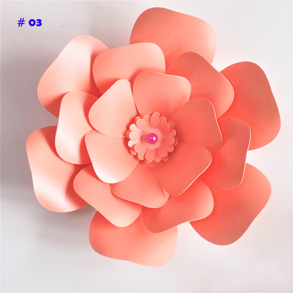 20cm Thick Cardstock Rose Diy Paper Flowers For Wedding Event