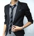 Британской Моды костюм silm пальто Mens вскользь Потрясающие slim fit Jacket Пальто Краткости Блейзера одну Кнопку костюм