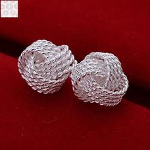 Silver earrings E013 2016 New supplies Silver plated earrings fashion high quality
