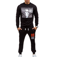 ZOGAA Men Sweat Suit 2019 Casual Sportswear Pullovers and Pants Set Printed Joggers Men Tracksuit Two Piece Sets Men;s tracksuit