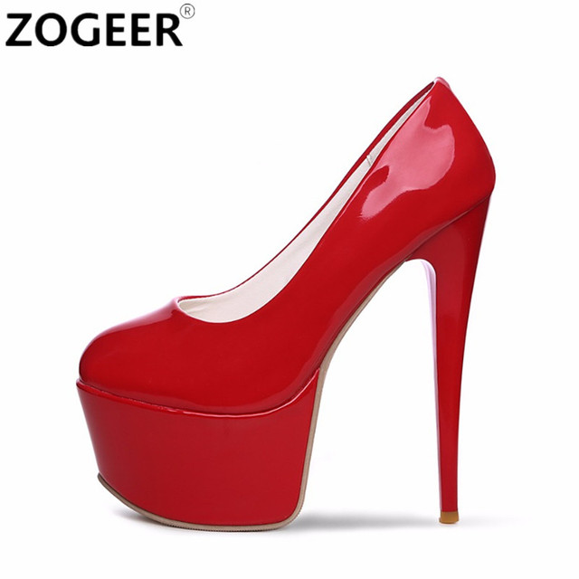 6d0a6a135587 Plus Size 48 Fashion Women Pumps Platform Extreme High Heels Shoes 16 CM  Sexy Pumps Nightclub Evening Party Wedding Shoes