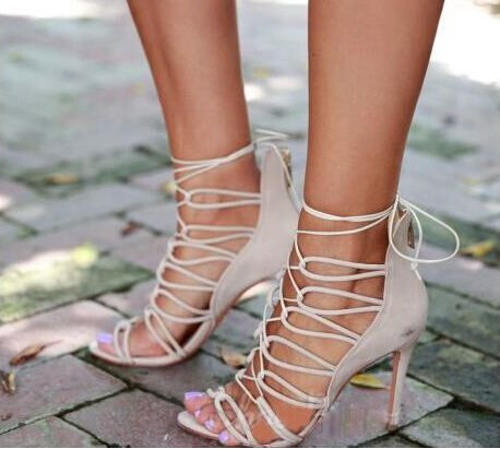 Beige Strappy Heels Promotion-Shop for Promotional Beige Strappy ...