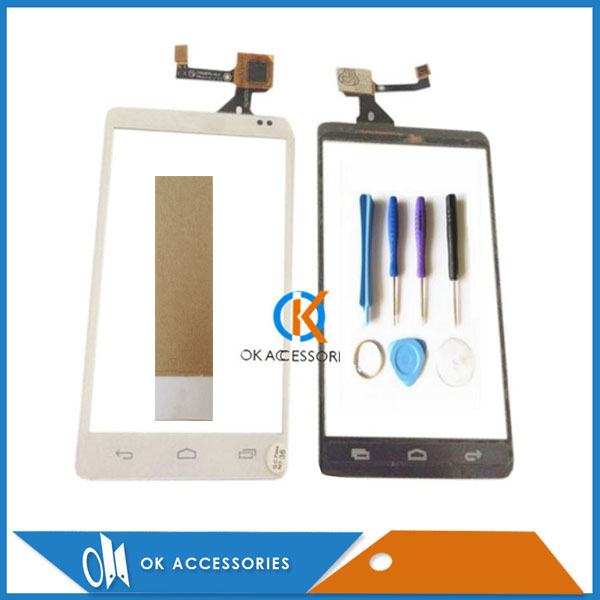 For Alcatel One Touch OT 993 993D OT993 OT-993 Touch Screen Digitizer Only White Color With Tape & Tools 1PC/Lot