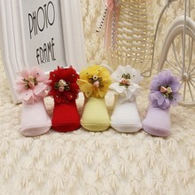 High Quality 0 1Y Newborn Infant Baby Girls Soft Socks Cute Solid Color Beatful Flower Kids