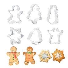Очень простые и практичные рождественские формы животных из нержавеющей стали для украшения торта, выпечки бисквиты и печенье плесень, прямые продажи