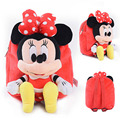 26cm Cute Cartoon baby children pokonyan Crayon Mickey Mouse Plush backpack Stuffed Doll backpack kindergarten school bag Toy