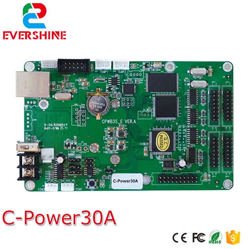 C-power30A lintel RGB full color led screen full color led advertising display screen controller card led advertising display screen diy kits p16 outdoor rgb led panel 1 pcs jn power supply 1 pcs contrller all cable