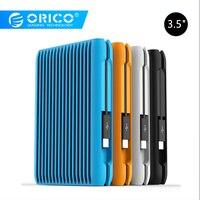 ORICO 2 TB USB3.1 Gen2 TYPE-C 3.5 10 5gbps במהירות גבוהה עמיד הלם חיצוני כוננים קשיחים HDD שולחן העבודה מחשב נייד נייד דיסק קשיח האיחוד האירופי Plug