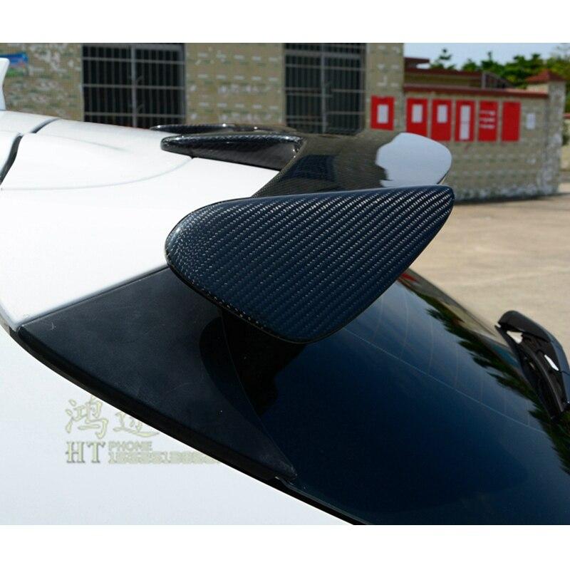 Z włókna węglowego zewnętrzny tylny spoiler ogon bagażnika Boot skrzydło dekoracji Car Styling dla Mazda 3 Axela Hatchback 2014 2015 2016 2017
