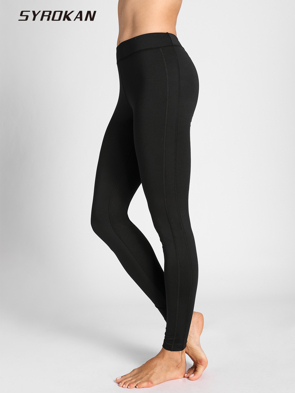 SYROKAN Femmes de Collants de Confort D'entraînement Flex Running Sport Leggings Pantalon