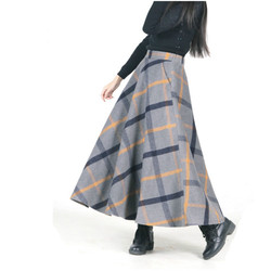 New retro chinese long woolen font b skirt b font 2016 autumn winter women a line.jpg 250x250