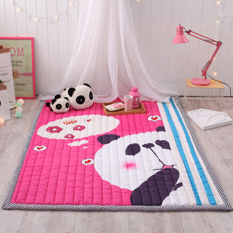 Infant Shining Thickening Baby Play Mat 145x195CM Non-slip Carpet Tatami Living Room Children Bedroom Blanket Large Rugs infant shining play mat nordic style rugs and carpets for living room bedroom soft velvet kid s game mat coffee table carpet