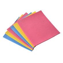 Paño de cocina de esponja de celulosa, paño de limpieza sin aceite, suministros para el hogar, utensilios de cocina, Color aleatorio, 4 Uds.