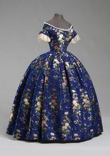 1850 Silk brocade cotton/linen lace Medieval Clothing Victorian dress satin dress