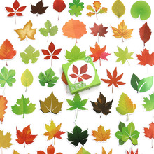 46pcs/box Autumn maple leaves paper sticker decoration DIY diary scrapbooking sealing sticker children's favorite stationery