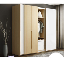 0129TB007 Modern Europe Wood Panel Assembly Custom Made Hanging Sliding  Door Wardrobe Closet Garderobe With Dressing