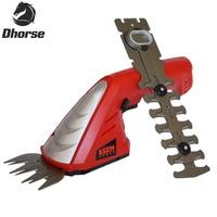 Dhorse Мощность Бонсай инструменты 7,2 В литий ионный Перезаряжаемые хедж Триммер/серпы газонокосилка Cordless садовые инструменты SX063