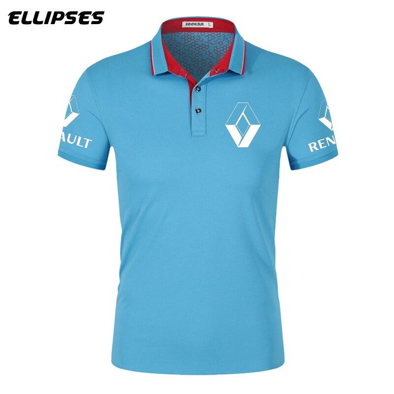Renault Car Polo Shirt for Man Summer Renault  Logo Polo Shirt Short Sleeve for Male Cotton Turn-down Collar Tops Polo Shirt Men