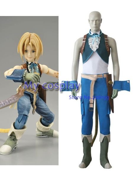 Anime Final Fantasy Cosplay clothing- Final Fantasy IX Zidane Tribal Cosplay Costume - Freeshipping