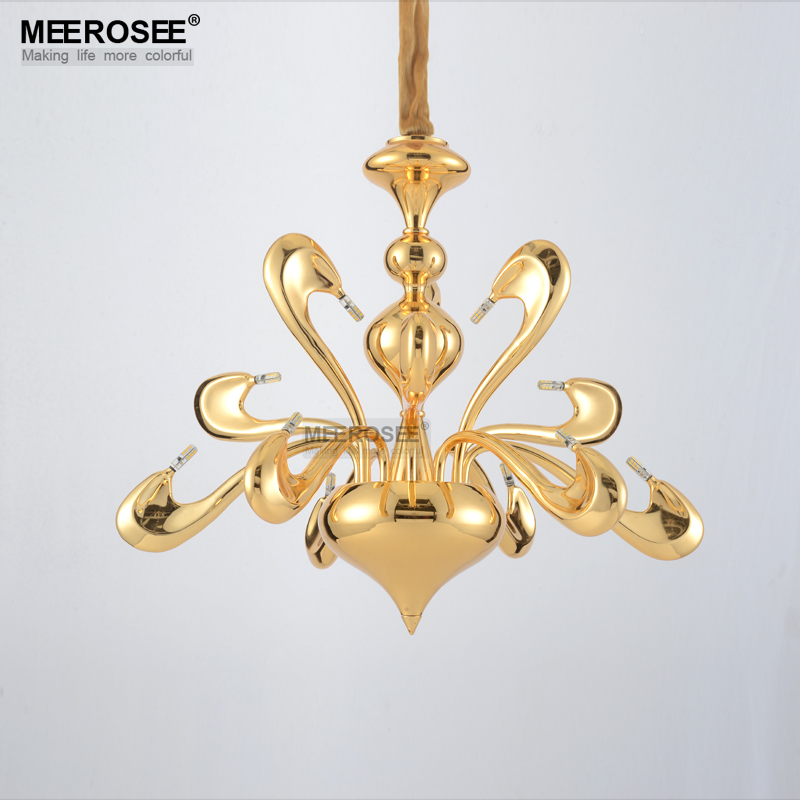 Modern LED Swan Chandeliers Ceiling Bedroom Living Room Creative Hanging Decoration Light G4 Drop Lighting Free Shipping