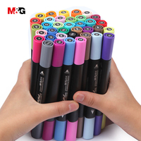 M G Professional 80color Two Head Watercolor Brush Marker Pens Set For Drawing Quality School Stationery