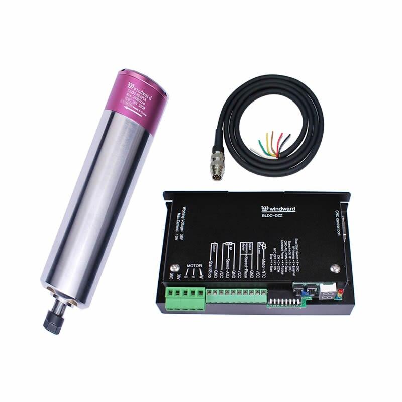 250w 24000rpm ER8 Brushless spindle motor MACH3 driver mount bracket CNC spindle kits DC36V for CNC