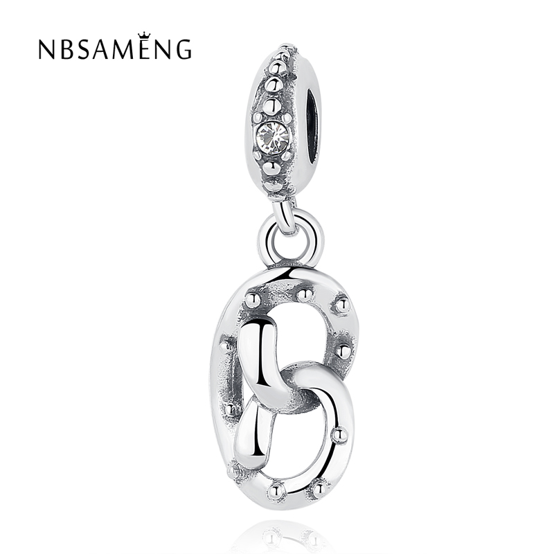 Original Authentic 100% 925 Sterling Silver European Crystal DIY Bead Charms Fit Pandora Women Bracelets & Bangles Jewelry