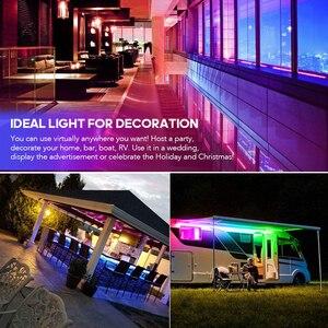 Image 3 - Commande musicale, 5 20m, LED bandes lumineuses couleur de rêve, WS2811, LED bandes RGB, 5050, SP106E, télécommande RF, avec adaptateur 12V pour fête