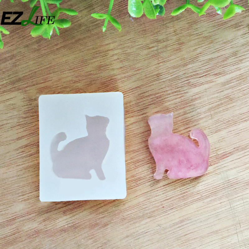 Hot Sale Transparent Cat Kitten Cake Cookie Candy Cutter Dies Diy Cake Candy Silicone Mold Mould Kitchen Accessories ZH01692