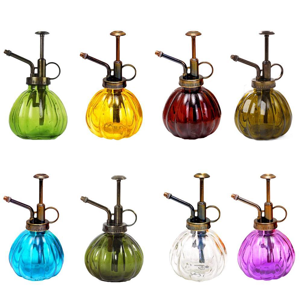 Vintage Pumpkin Shape Glass Spray Bottle Color Watering Flower Jug Garden Succulent Planting Supplies Multiple Color