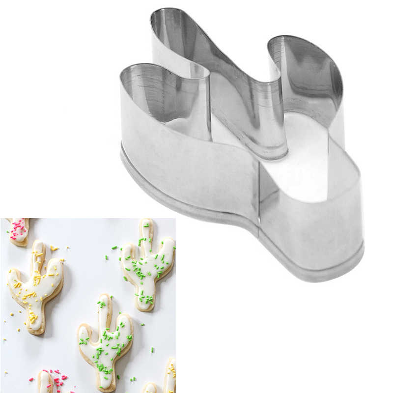 Dropship Kitchen Accessories Cactus Biscuits Stainless Steel Cookie Mold Fondant Styling Tools  Cookies Cutter Tools