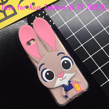 ФОТО 3d cute pink rabbit case for asus zenfone go tv zb551kl soft silicone tpu cartoon back cover cases fundas coque capa shell bag