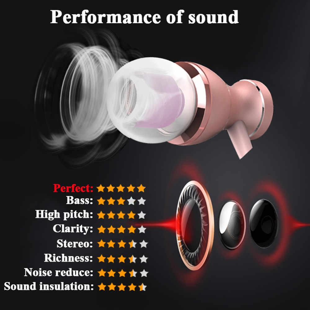 磁気インイヤーイヤホン金属ヘッドセットヘッドフォンホット販売 3.5 ミリメートルスーパー低音のステレオイヤホン携帯電話用マイク MP3