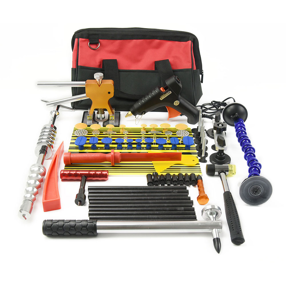 PDR Tools Kit Paintless Dent Repair Tool Set for Car body dent removal tools set Glue Puller Glue Gun hand Tools Bag tabs pdr tools paintless dent repair tools dent removal dent puller dent puller grip t handle hand tool set pdr tool kit herramentas