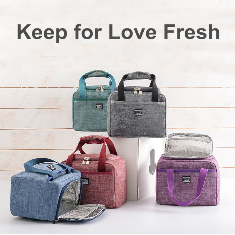 Image 2 - Waterproof Insulated Lunch Bags Oxford Travel Necessary Picnic Pouch Thermal Dinner Box Food Storage Case Accessories Organizer-in Storage Bags from Home & Garden