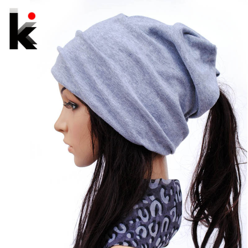 Spring And Autumn Beanies Muffler Scarf Dual-use Fashion Hat Cotton Cap Covering Cap Turban Beanie Hats For Women