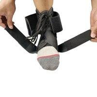 Фиксаторы для лодыжки купальник в виде полос Спорт безопасности регулируемая защита лодыжек поддерживает гвардии ног ортез стабилизатор