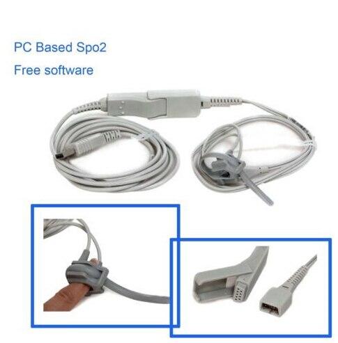 Fingertip Pulse PR Spo2 probe Free software ,PC-Based, USB port,bundled/infant oximetro elera portable finger pulse oximeter spo2 pr odi4 pi fingertip oximetro de pulso de dedo blood oxygen saturometro