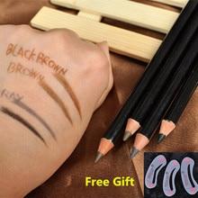 2015 3CE lápiz de ceja impermeable cejas lápiz con el envío plantilla de la ceja de regalo marrón / negro / café / gris crayón sourcils EY01