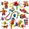2016 Mega Pack Animal Espina Mejores Juegos de Bloques de Construcción de Juguete mascota Bug Creación Pack Niños Artesanía Paquete de Juguetes de Montar juguete