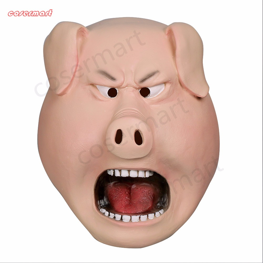 2016 Movie Sing Cosplay Porcupine Ash Latex  Mask Pig  Animal Mask Halloween Party