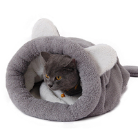 Cute Cat Sleeping Bag Winter Warm Dog Cat Bed Pet Dog House For Small Animals Soft