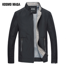 كوزمو ماسا سترة سوداء للرجال خريف ربيع 2018 رجل رقيقة جاكيتات واقية طوق الوقوف سترة عادية للرجال أبلى MJ0066