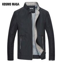 Kosmo masa black jacket mens 가을 봄 2018 남자 얇은 재킷 윈드 브레이커 칼라 스탠드 캐주얼 자켓 남성용 outwear mj0066