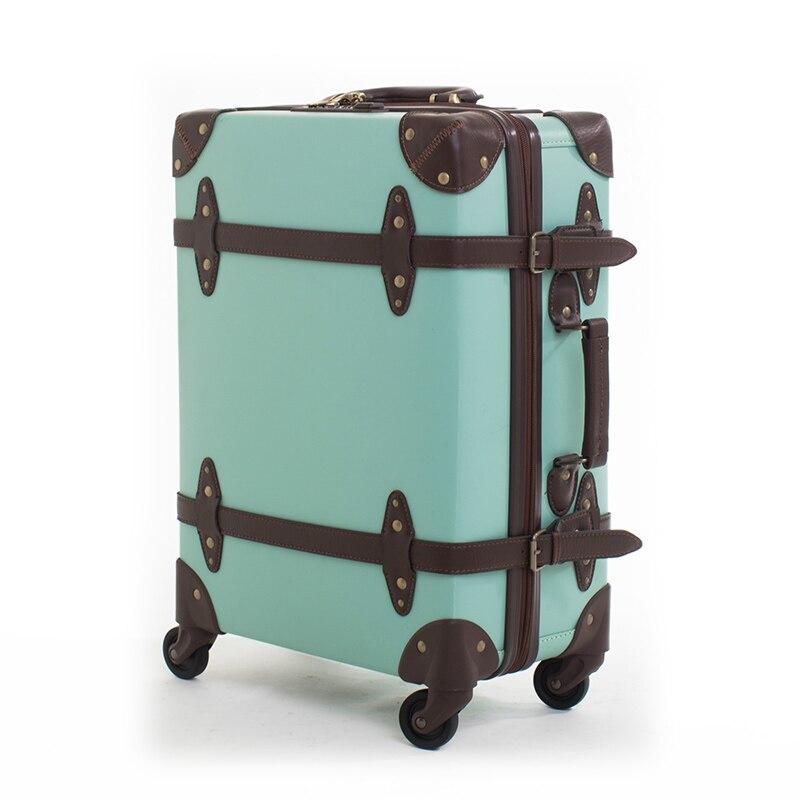 BeaSumore Waterproof Retro Rolling Luggage Sippner Trolley Suitcase Wheels Women Travel bag Men Trunk Student Password