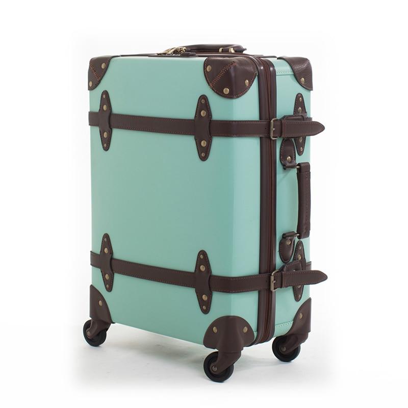 Waterproof Retro Rolling Luggage Sippner Trolley zipper ...